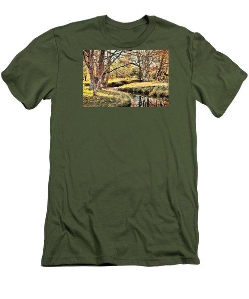 Winter Artistry Ap Men's T-Shirt (Slim Fit) by Dan Carmichael