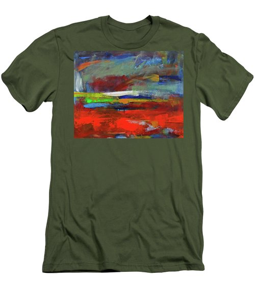 Men's T-Shirt (Athletic Fit) featuring the painting Winter Beginnings by Walter Fahmy