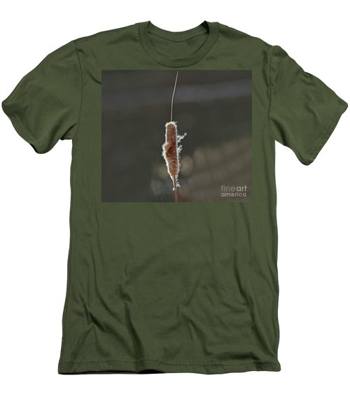 Winter Cattail  Men's T-Shirt (Athletic Fit)