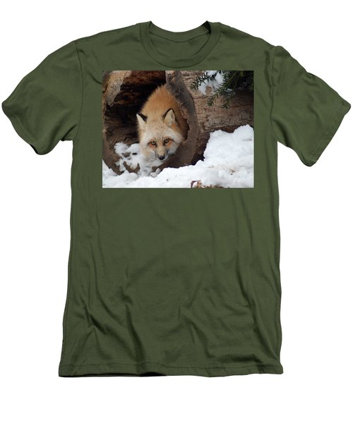 Winter Fox Men's T-Shirt (Slim Fit) by Richard Bryce and Family