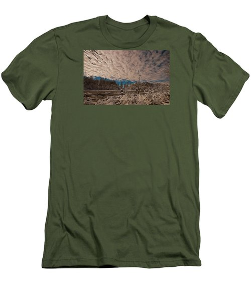 Men's T-Shirt (Slim Fit) featuring the photograph Winter In The Wetlands by John Harding