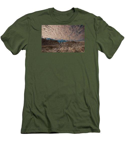 Winter In The Wetlands Men's T-Shirt (Slim Fit) by John Harding