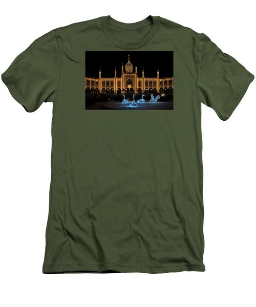 Winter In Tivoli Gardens Men's T-Shirt (Slim Fit)
