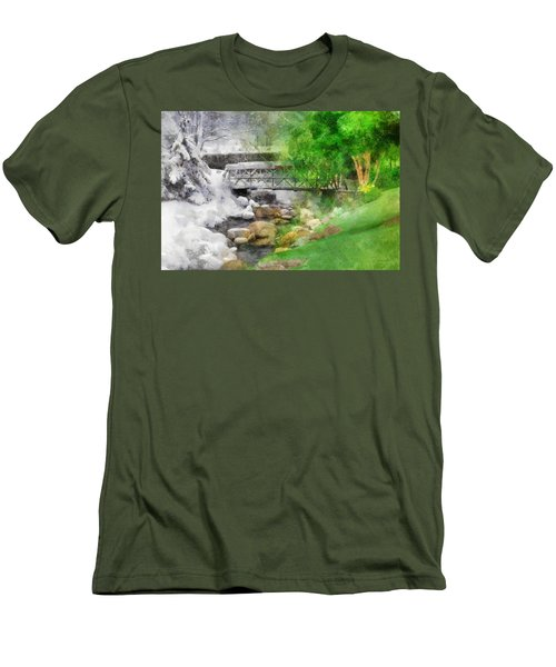 Men's T-Shirt (Slim Fit) featuring the digital art Winter Melt To Spring by Francesa Miller