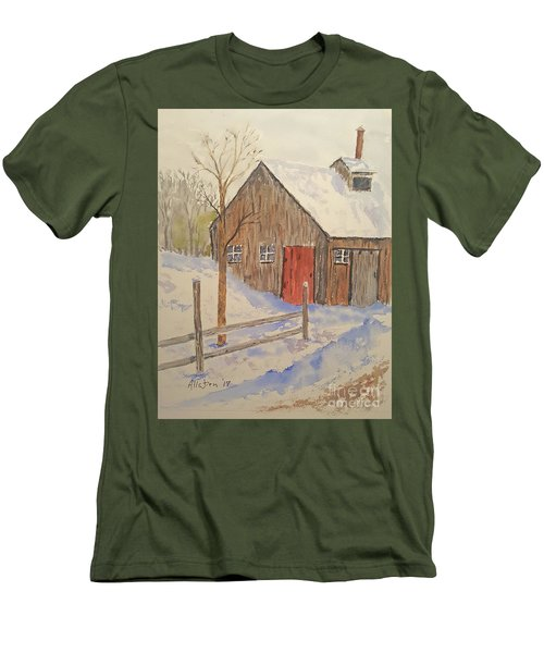 Winter Sugar House Men's T-Shirt (Slim Fit) by Stanton Allaben