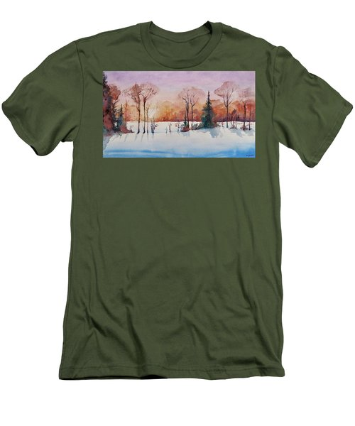 Winter Sunrise Men's T-Shirt (Slim Fit) by Geni Gorani