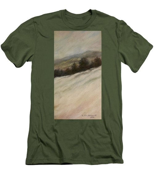 Men's T-Shirt (Slim Fit) featuring the painting Winter Twilight by Kathleen McDermott