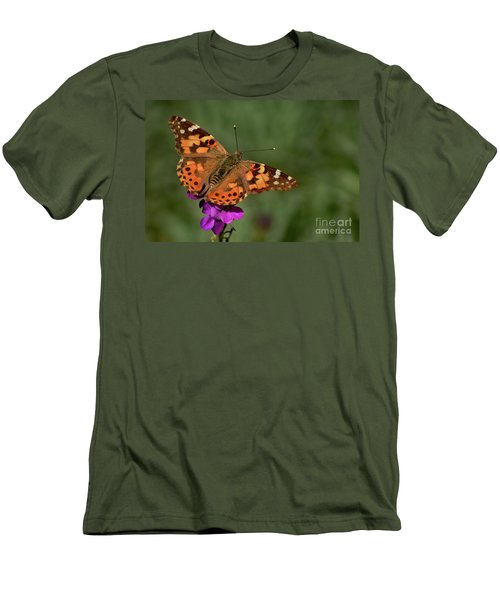Men's T-Shirt (Slim Fit) featuring the photograph Winter Visitor by Debby Pueschel