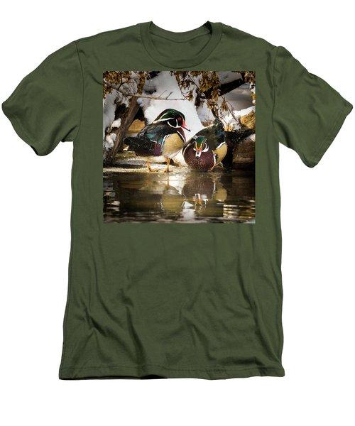 Winter Visitors - Wood Ducks Men's T-Shirt (Athletic Fit)