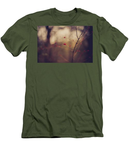 Men's T-Shirt (Slim Fit) featuring the photograph Winter Whispers by Shane Holsclaw