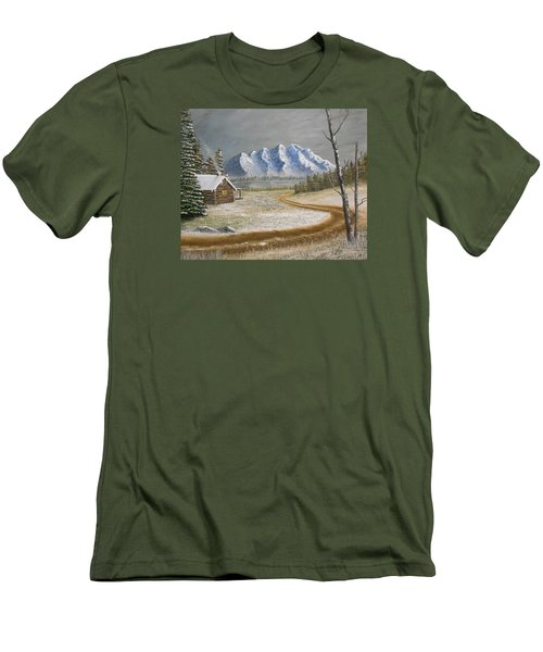 Winter's Arrival Men's T-Shirt (Slim Fit) by Sheri Keith