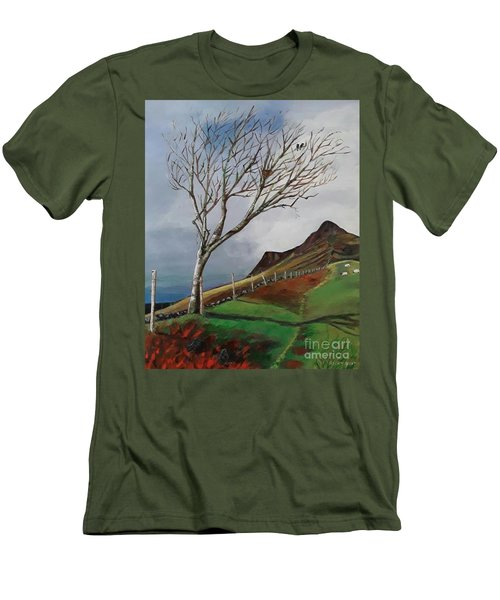 Winter's Day At Yewbarrow -painting Men's T-Shirt (Athletic Fit)