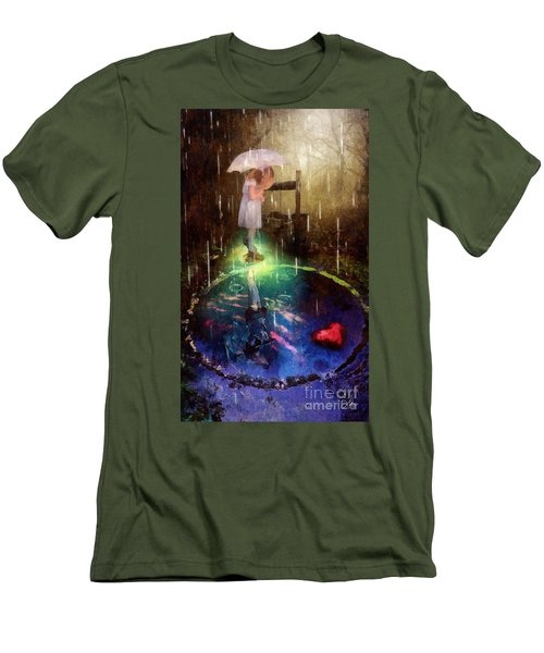Wishing Well Men's T-Shirt (Slim Fit) by Mo T