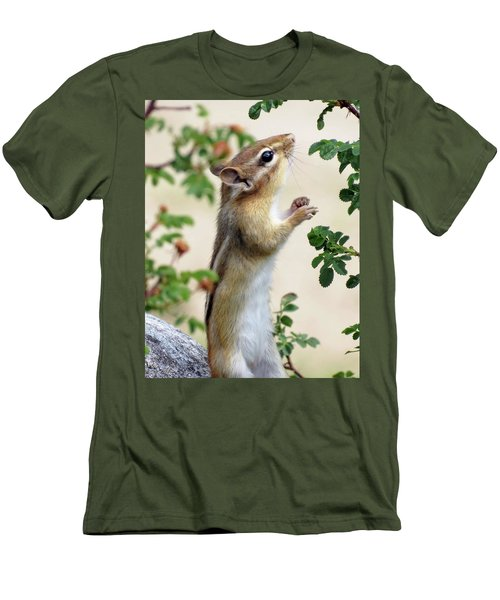 Within Reach - Chipmunk Men's T-Shirt (Slim Fit) by MTBobbins Photography