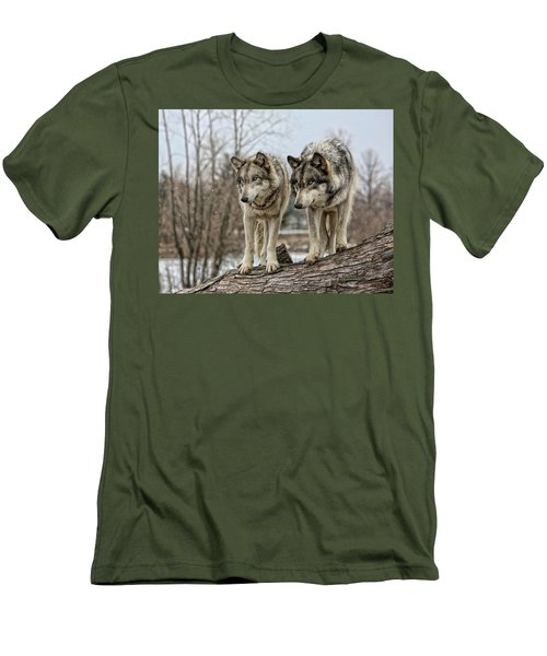 Wolf Pair Men's T-Shirt (Athletic Fit)