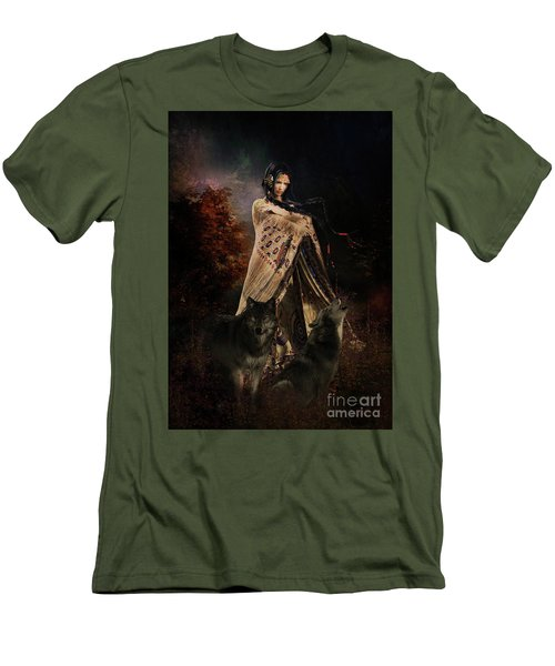 Wolf Song Men's T-Shirt (Slim Fit) by Shanina Conway