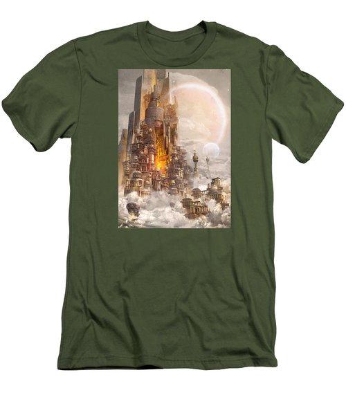 Wonders Tower Of Babylon Men's T-Shirt (Slim Fit) by Te Hu