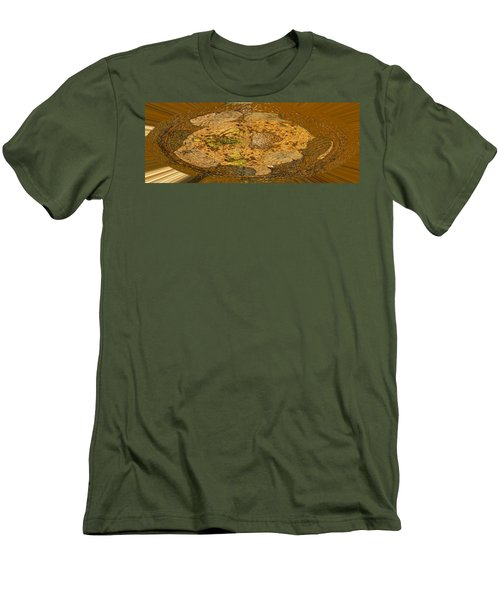 Men's T-Shirt (Slim Fit) featuring the photograph Wood Abstracted by Lenore Senior