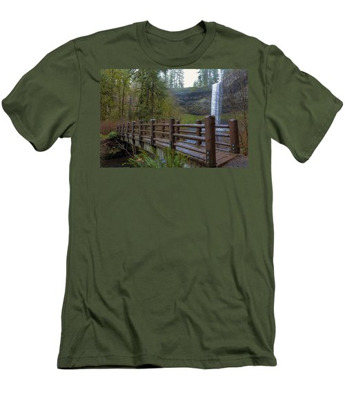Wood Bridge At Silver Falls State Park Men's T-Shirt (Athletic Fit)