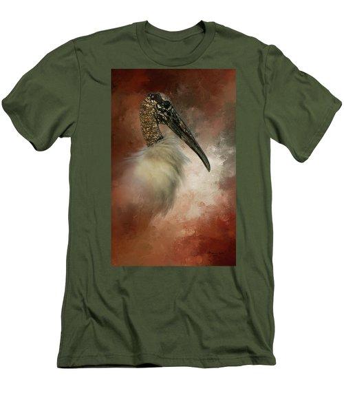 Wood Portrait  Men's T-Shirt (Athletic Fit)