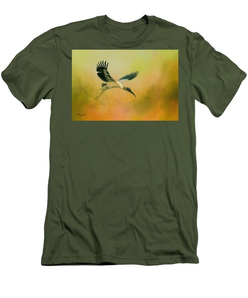 Men's T-Shirt (Slim Fit) featuring the photograph Wood Stork Encounter by Marvin Spates