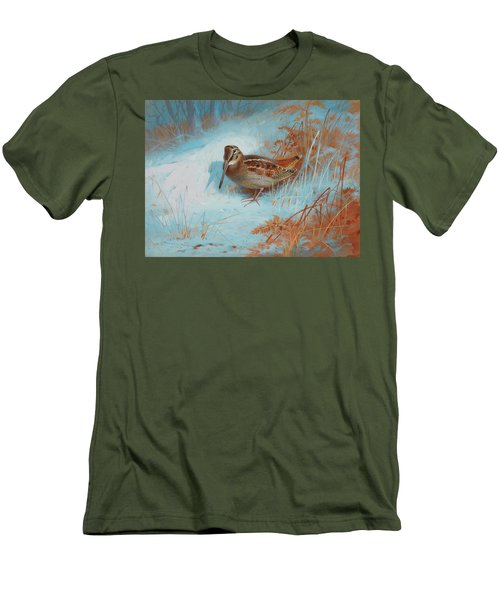 A Woodcock In The Snow Men's T-Shirt (Athletic Fit)