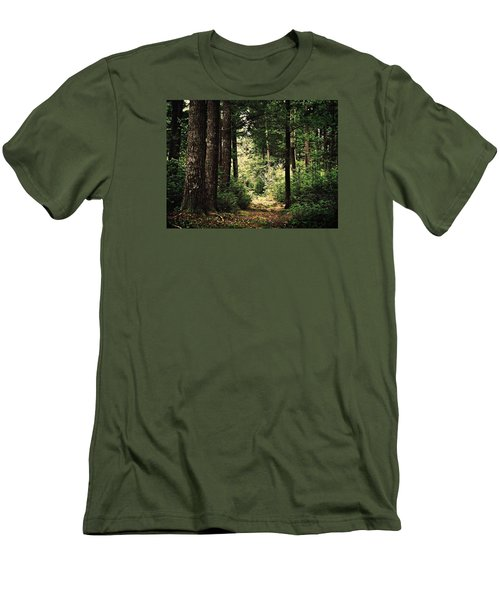 Woodland Hush Men's T-Shirt (Slim Fit) by Joy Nichols