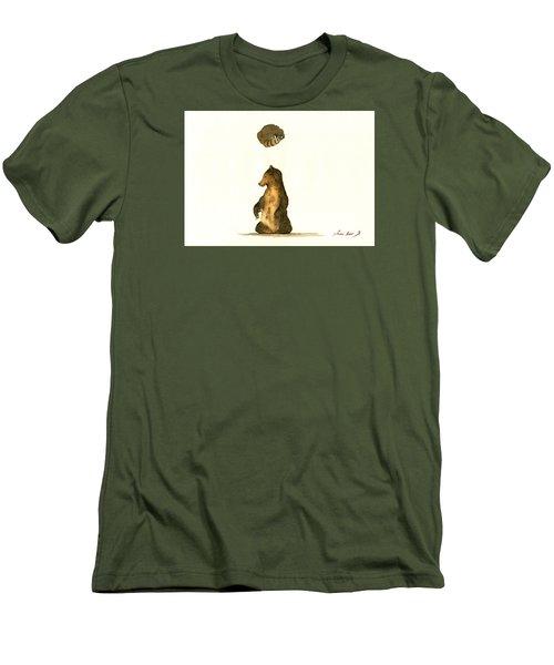 Woodland Letter I Men's T-Shirt (Athletic Fit)