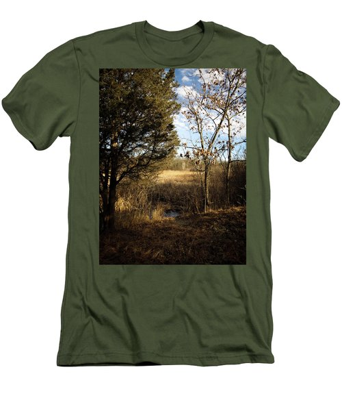 Men's T-Shirt (Slim Fit) featuring the photograph Woodland View  by Kimberly Mackowski