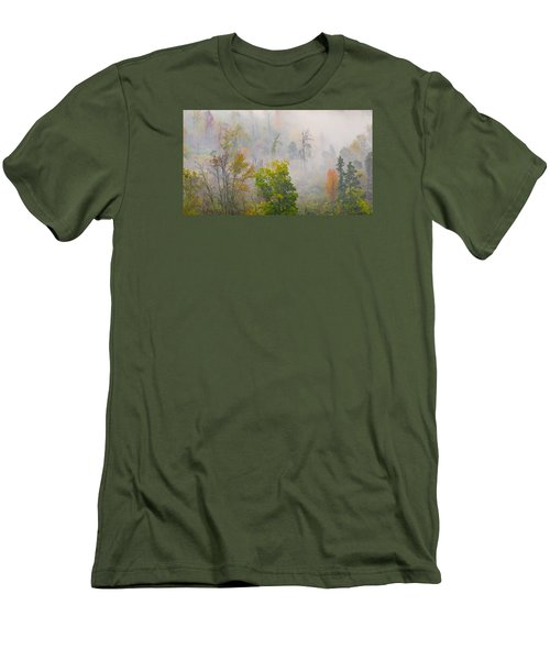 Men's T-Shirt (Slim Fit) featuring the photograph Woods From Afar by Wanda Krack