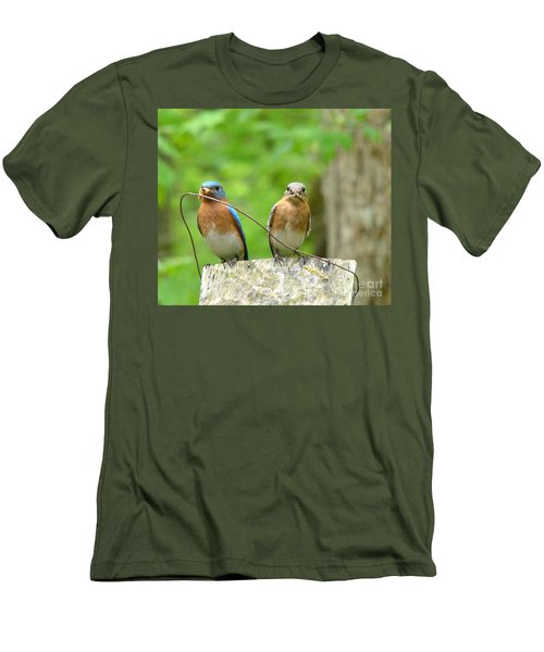 Working Couple Men's T-Shirt (Slim Fit) by Rand Herron
