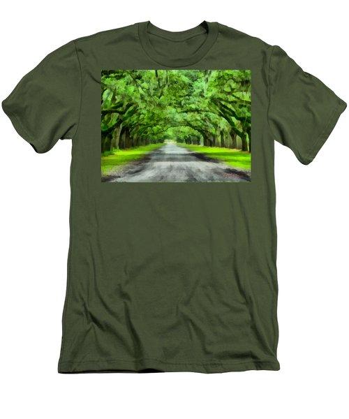 Wormsloe Plantation Men's T-Shirt (Athletic Fit)