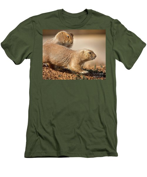 Worried Prairie Dog Men's T-Shirt (Slim Fit) by Robert Frederick