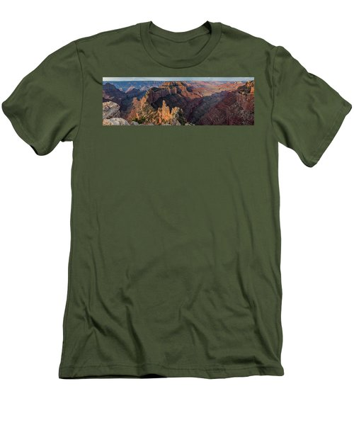 Wotan's Throne Panorama I Men's T-Shirt (Athletic Fit)