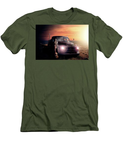 Men's T-Shirt (Slim Fit) featuring the digital art Wrecked  by Nathan Wright