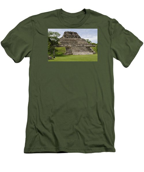 Xunantunich   Men's T-Shirt (Slim Fit) by Glenn Gordon