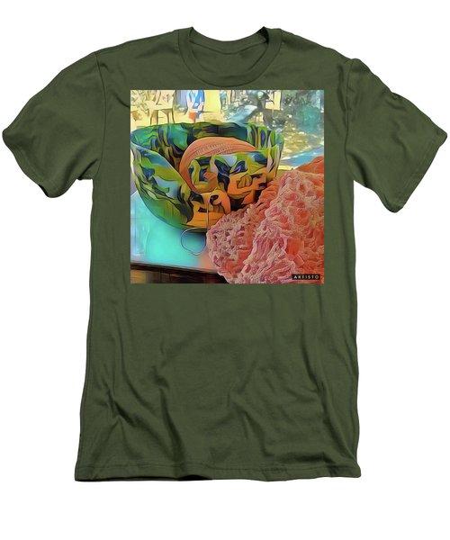Yarn Bowl Men's T-Shirt (Slim Fit) by Ginny Schmidt