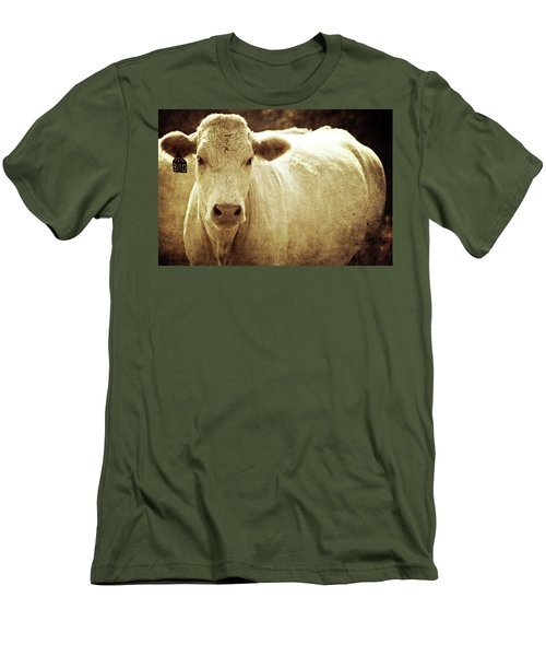 Men's T-Shirt (Slim Fit) featuring the photograph Yeg 3110 by Trish Mistric
