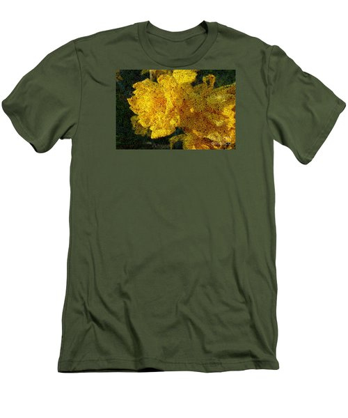 Yellow Abstraction Men's T-Shirt (Slim Fit) by Jean Bernard Roussilhe