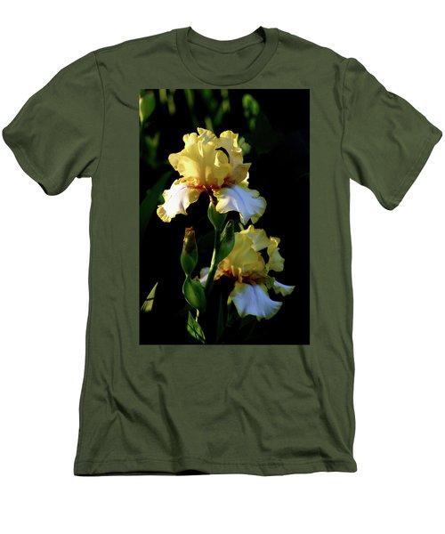 Yellow And White Irises 6681 H_2 Men's T-Shirt (Athletic Fit)