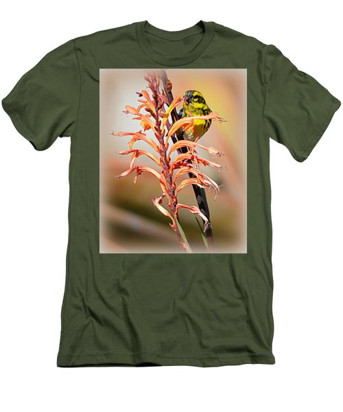 Men's T-Shirt (Slim Fit) featuring the photograph Yellow Bird Hi by AJ Schibig