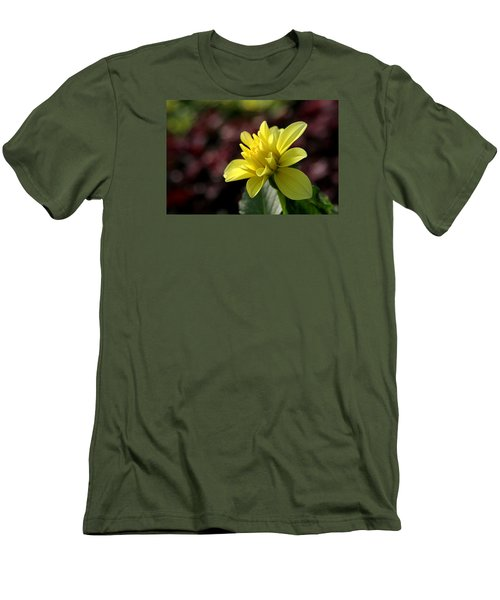 Yellow Bloom Men's T-Shirt (Slim Fit) by Robert Och