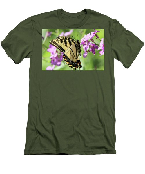 Yellow Butterfly Men's T-Shirt (Slim Fit) by David Stasiak