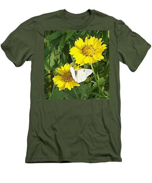 Yellow Cow Pen Daisies Men's T-Shirt (Athletic Fit)