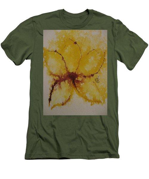 Yellow Flower Men's T-Shirt (Slim Fit) by AJ Brown