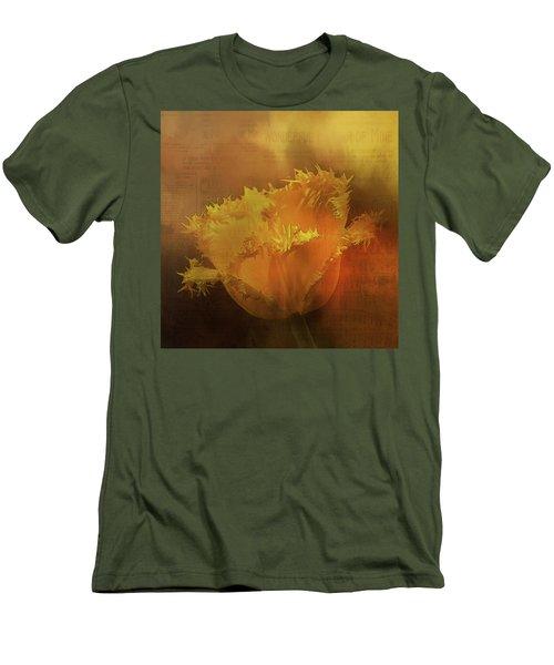 Yellow Flower Men's T-Shirt (Slim Fit)