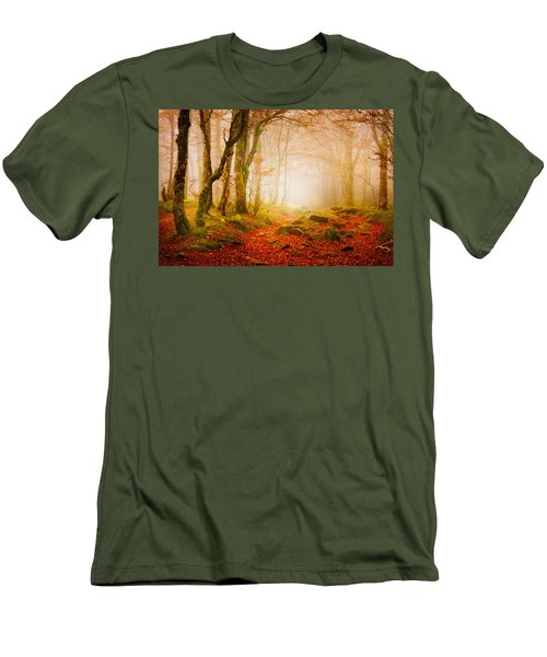 Yellow Forest Mist Men's T-Shirt (Athletic Fit)