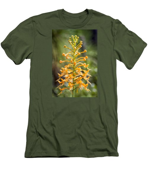 Men's T-Shirt (Slim Fit) featuring the photograph Yellow Fringed Orchid by Bob Decker