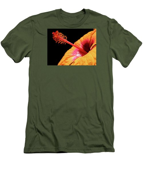 Men's T-Shirt (Slim Fit) featuring the photograph Yellow Hibiscus by Marie Hicks