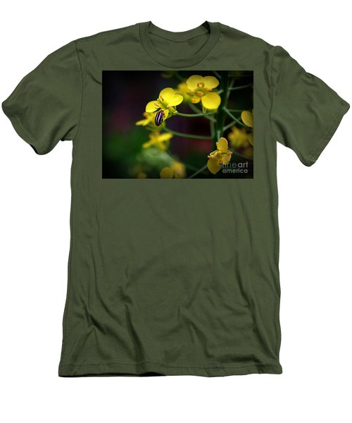 Men's T-Shirt (Slim Fit) featuring the photograph Yellow Lightning by Lisa L Silva